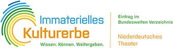 Immaterielles Kulturerbe - Niederdeutsches Theater Logo